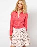 Pink denim jacket at ASOS at Asos
