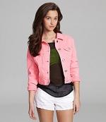 Pink denim jacket at Dillards at Dillards