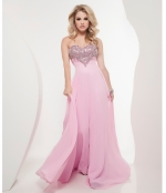 Pink embellished prom dress at Unique Vintage