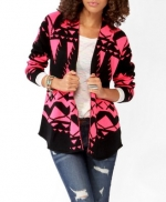 Pink geometric cardigan from Forever 21 at Forever 21