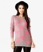 Pink heart sweater at Forever 21 at Forever 21