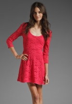 Pink lace dress by Free People at Revolve