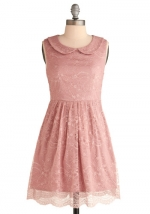 Pink lace dress from Modcloth at Modcloth