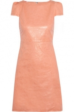 Pink leather dress by Alice and Olivia at Net A Porter