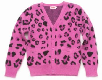 Pink leopard print cardigan at Opening Ceremony
