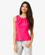 Pink peplum top at Forever 21 at Forever 21