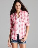 Pink plaid shirt by Rails at Bloomingdales