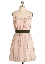 Pink polka dot dress at Modcloth at Modcloth