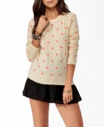 Pink polka dot sweater from Forever 21 at Forever 21