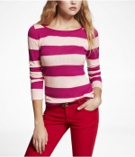Pink striped sweater at Express at Express