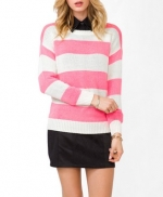 Pink striped sweater at Forever 21 at Forever 21