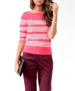 Pink striped sweater from Forever 21 at Forever 21