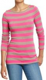 Pink striped tee at GAP at Gap