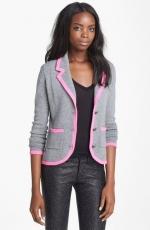 Pink trim blazer by Autumn Cashmere at Nordstrom
