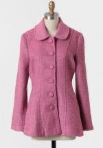 Pink tweed coat at Ruche