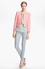 Pink tweed jacket by Alice and Olivia at Nordstrom