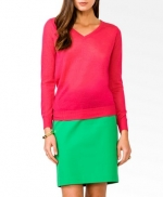 Pink vneck sweater at Forever 21 at Forever 21