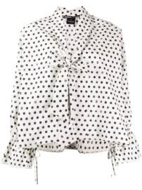 Pinko bow neck polka dot print blouse bow neck polka dot print blouse at Farfetch