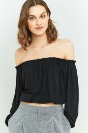 Pins & Needles Bardot Off-The-Shoulder Batwing Top at Urban Outfitters