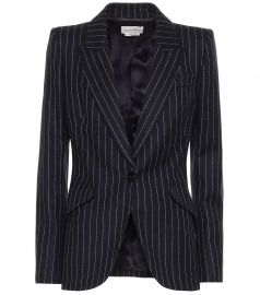 Pinstripe wool blazer at Mytheresa