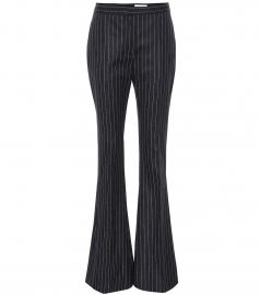 Pinstripe wool flared pants at Mytheresa