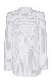 Pinstriped Double-Breasted Crepe Jacket at Moda Operandi