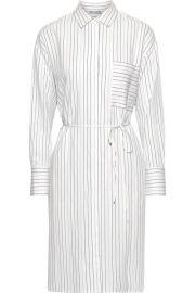 Pinstriped poplin shirt dress at The Outnet