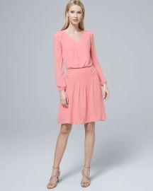 Pintucked Blouson Dress at WHBM