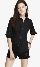 Pintucked Essential Shirt at Express