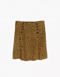 Piped Mini Skirt in Woodcut Flowers by Madewell at Madewell