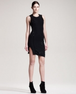 Piped dress by Helmut Lang on HIMYM at Bergdorf Goodman