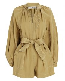Piper Belted Cotton Playsuit at Intermix