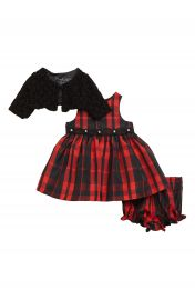 Pippa  amp  Julie Plaid Dress  amp  Jacket Set  Baby Girls at Nordstrom