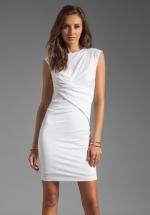 Pique Mesh Sleeveless dress by T by Alexander Wang at Revolve