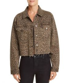 Pistola Naya Leopard Print Cropped Denim Jacket   Women - Bloomingdale s at Bloomingdales