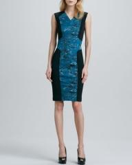 Pixel print techno dress by Robert Rodriguez at Neiman Marcus