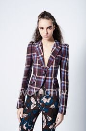 Plaid Blazer by Smythe at Smythe