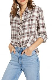 Plaid Boyfriend Shirt at Nordstrom