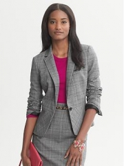 Plaid Blazer at Banana Republic