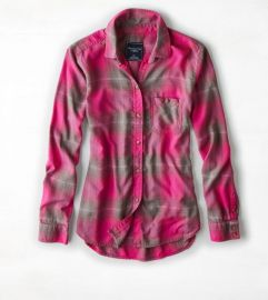 Plaid Boyfriend Shirt at American Eagle