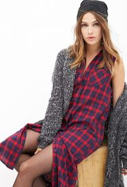 Plaid Button-Down Midi Dress  Forever 21 - 2000120163 at Forever 21