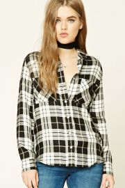 Plaid Button-Front Shirt   Forever 21 - 2000237307 at Forever 21