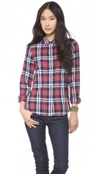 Plaid Eden Boyshirt by Madewell at Shopbop