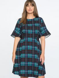 Plaid Fit and Flare Dress by Eloquii at Eloquii