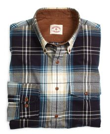 Plaid Flannel Sport Shirt at Brooks Brothers