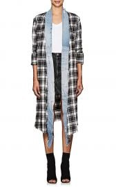Plaid Flannel and Denim Long Kimono by Greg Lauren at Barneys