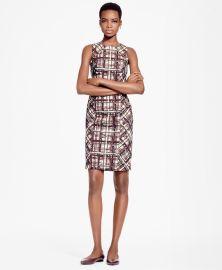 Plaid Jacquard Cotton Sheath Dress at Brooks Brothers