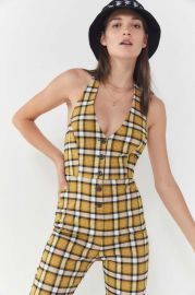 Plaid Jumpsuit by Urban Outfitters at Urban Outfitters