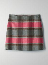 Plaid Mini Skirt by Aritzia at Aritzia