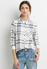 Plaid-Patterned Boxy Shirt  Forever 21 - 2000132616 at Forever 21
